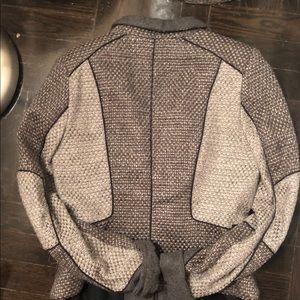 Zara Jackets & Coats - Zara medium grey zip blazer